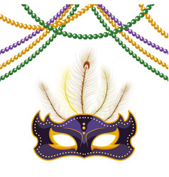 mask and beads vector image