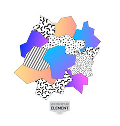 memphis 80s style abstract mosaic element vector image