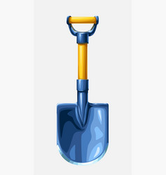 Metal shovel with wooden handle vector