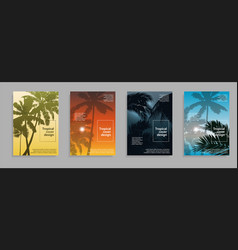 minimal tropical covers design flyer cover vector image