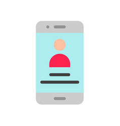 Mobile user profile social media flat style icon vector