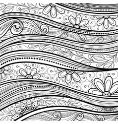 Monochrome Floral Background vector