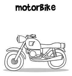 Motorbike art collection vector