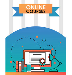 online education course flat vector image