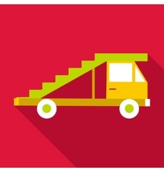 Passenger gangway icon flat style vector