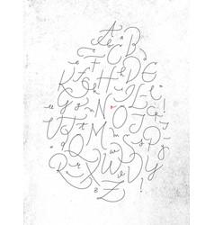 pen line alphabet vector image