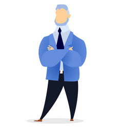 professional worker man with crossing hands vector image