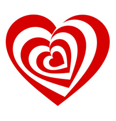 Psychedelic heart icon simple style vector
