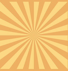retro sun rays background in orange color vector image