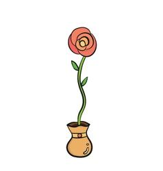 rose in jar vector image