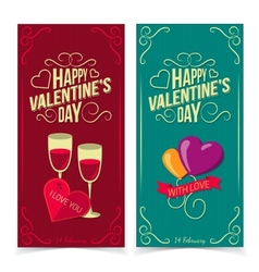Saint Valentine Day banners vector image