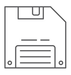 save game thin line icon data and disk diskette vector image