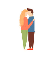 scene with adorable romantic couple vector image