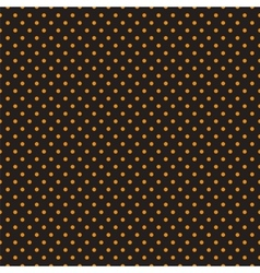 Seamless orange polka dots on black background vector image vector image