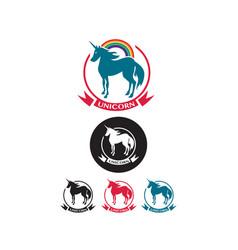 Set of unicorn icons vector