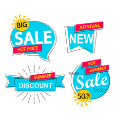 Set sale discounts and new arrivals labels vector