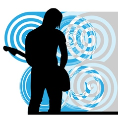 Singer playing guitar vector image vector image