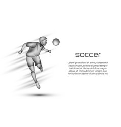 soccer player heading the ball vector image