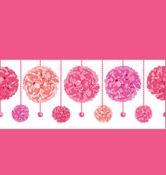 Srt dangling pink birthday party paper vector