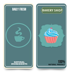 template for coffee bakery shop vector image