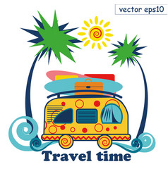 travel summer van vector image