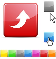 Upload glossy button vector