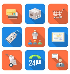 Various colorful flat style business distribution vector