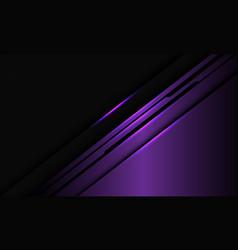 Violet metallic black line circuit hexagon mesh vector