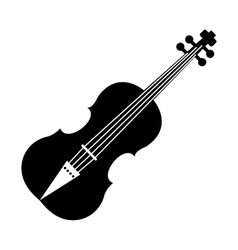 Violin black simple icon vector image