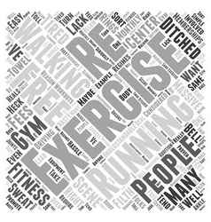 Walking for exercise Word Cloud Concept vector