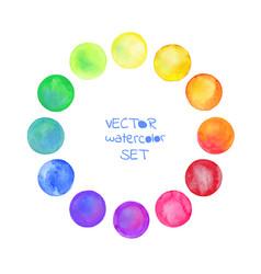 watercolor circles se vector image