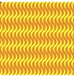Wavy line yellow seamless pattern vector image