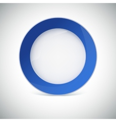 White plate with blue border vector
