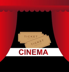 Cinema theater tickets background vector image vector image