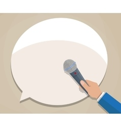 Journalist hand with microphone vector image vector image