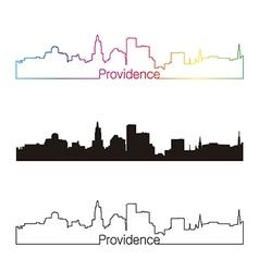 Providence skyline linear style with rainbow vector image vector image