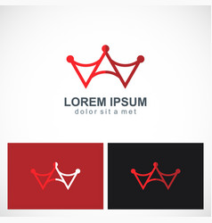 abstract crown letter a logo vector image vector image