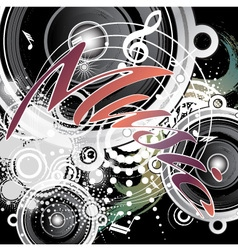 background music abstraction vector image
