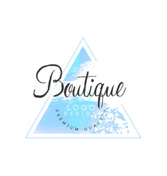 boutique logo design premium quality badge for vector image vector image