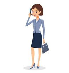 Business woman with smartphone character vector image vector image