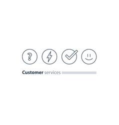 customer services feedback survey quiz concept vector image