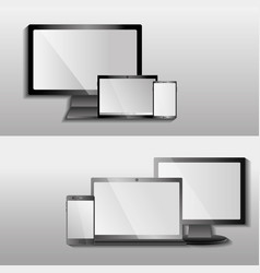 digital devices modern technologies electronic vector image