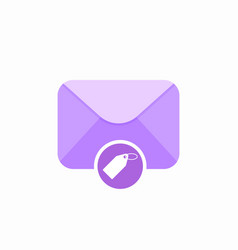 email envelope mail mark tag icon vector image