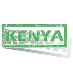 Green outlined Kenya stamp vector image