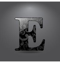 Letter E vector image vector image