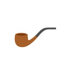 pipe tobacco icon flat design vector image