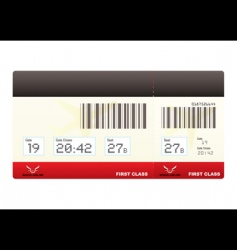 plane tickets first class swipe vector image vector image