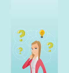 Young business woman having business idea vector
