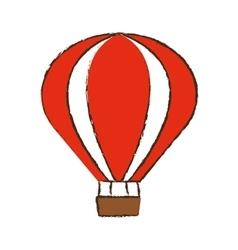 airballoon recreation vacation travel color sketch vector image