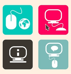 Computer - Technology Icons vector image